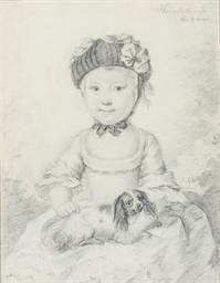 Portrait of a little girl seat