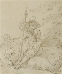 A shepherd resting, two figure