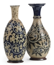 TWO ROYAL DOULTON STONEWARE VASES