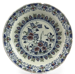 A BRISTOL DELFT BLUE, RED AND