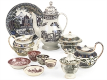 A COLLECTION OF STAFFORDSHIRE TRANSFER-PRINTED WARES