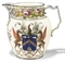 A MASSIVE SHORTHOSE & CO. NAMED AND DATED ARMORIAL JUG