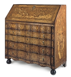 A DUTCH WALNUT MARQUETRY AND I