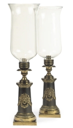 A PAIR OF FRENCH GILT-BRASS TA