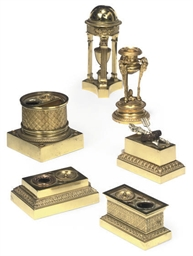A COLLECTION OF FRENCH GILT-BR