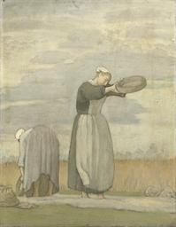 Bretonnes sifting Corn