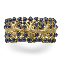 A SAPPHIRE, DIAMOND AND GOLD BRACELET