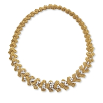 A GOLD AND DIAMOND NECKLACE, BY CARTIER