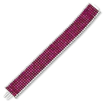 A RUBY AND DIAMOND BRACELET, BY ALETTO BROTHERS