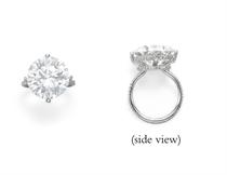 """AN ELEGANT DIAMOND """"THREAD"""" RING, BY JAR"""