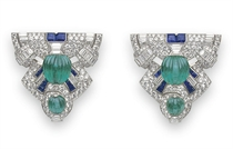 A PAIR OF ART DECO DRESS CLIPS, BY RAYMOND YARD