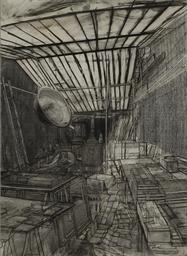 Modèle dans l'atelier, rue de
