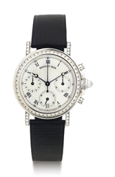 BREGUET. AN 18K WHITE GOLD, DI