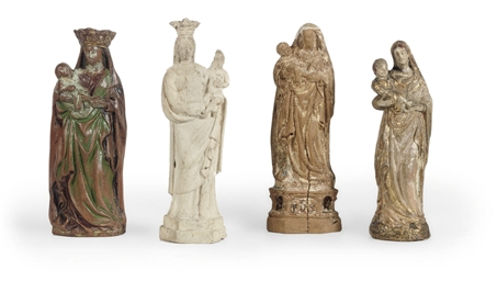 A CLAY GROUP OF THE VIRGIN AND