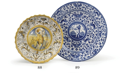 A Haarlem faience blue and whi