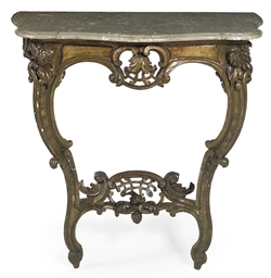 A GERMAN GILTWOOD CONSOLE