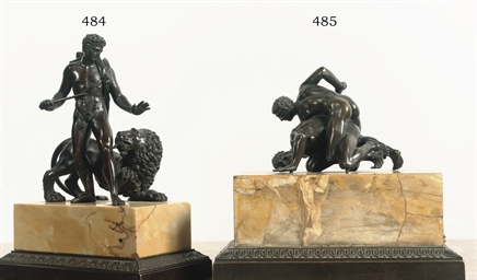 A CHARLES X BRONZE GROUP OF AN