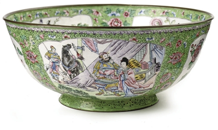 A Chinese Canton enamel bowl