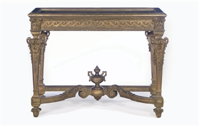 AN ITALIAN GILTWOOD DISPLAY TA