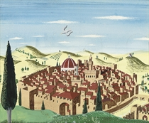 Set design for All's Well That Ends Well: A view of Florence