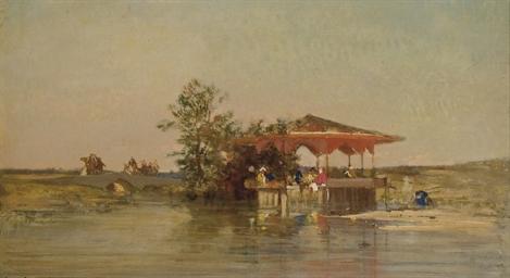 Kiosque au bord de l'eau en Tu