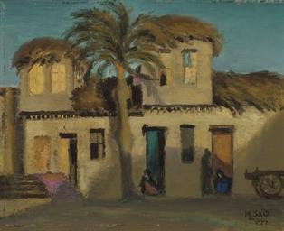 Vue d'une maison, Talkna, Egyp