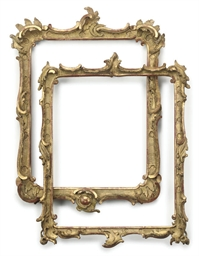 TWO ITALIAN GILTWOOD PICTURE F