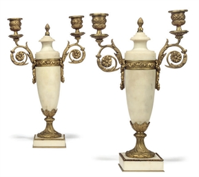 A PAIR OF FRENCH GILT BRONZE A