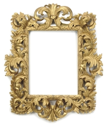 A FLORENTINE GILTWOOD PICTURE