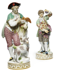 TWO MEISSEN FIGURES