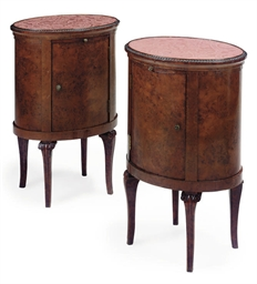 A PAIR OF FRENCH BURR WALNUT B