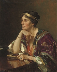 Portrait of Mrs Radcliffe, sea