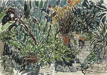 The garden; The garden stairs;