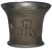 A CHARLES II LEADED BRONZE MORTAR