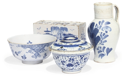 A GEORGE III ENGLISH DELFT BLU