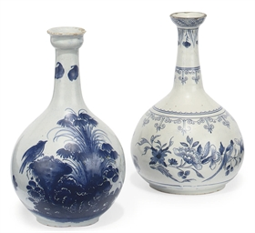 TWO GEORGE II ENGLISH DELFT BL