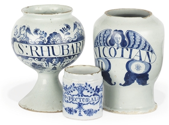 A LONDON DELFT WET DRUG-JAR AN