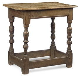 A CHARLES I OAK TABLE