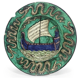 A WILLIAM DE MORGAN POTTERY DI
