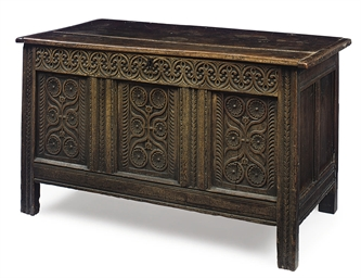 A COMMONWEALTH OAK CHEST
