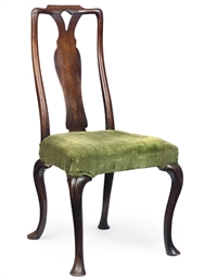 A GEORGE I WALNUT CHAIR