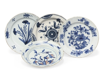FOUR ENGLISH AND IRISH DELFT P