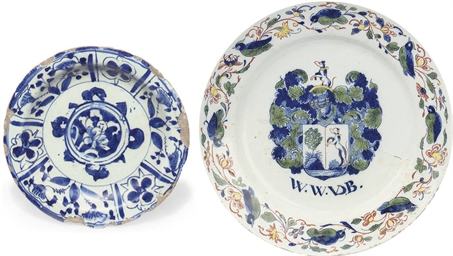 A DATED DUTCH DELFT POLYCHROME