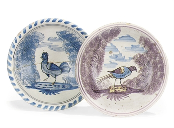 TWO GEORGE II ENGLISH DELFT DI