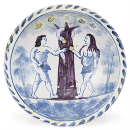 A WILLIAM III ENGLISH DELFT BL