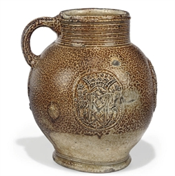 A RHENISH BROWN SALTGLAZE ARMO