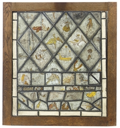 AN ENGLISH PANEL OF STAINED AN