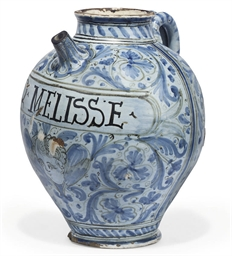 A LARGE ITALIAN MAIOLICA WET D