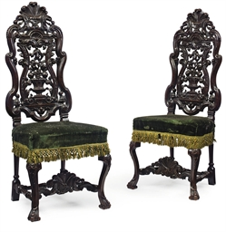 A PAIR OF WILLIAM IV 'ANTIQUAR