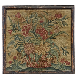 A GEORGE II EMBROIDERED NEEDLE